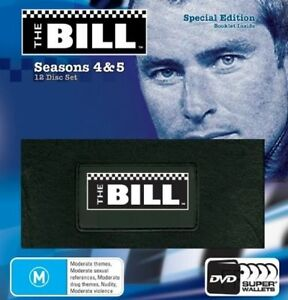 The Bill : Seasons 4 & 5 (DVD,12-Disc Set) Leather Wallet Case New