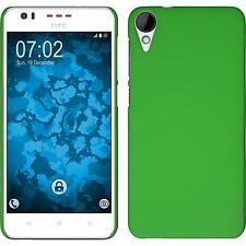 Hardcase HTC Desire 825 rubberized green Cover + protective foils
