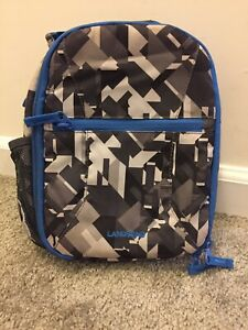 Land's End Gray And Black Lunch Bag