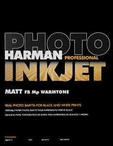 Harman A4 310gsm Matt FB MP Warmtone - 15 sheets - Inkjet Photo Paper