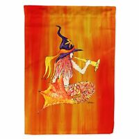 Carolines Treasures 8629CHF 28 x 40 In. Halloween Mermaid In Witches Hat Flag...