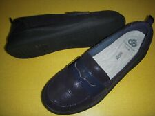 Clarks CLOUDSTEPPERS Sillian Hope Slip-On Loafers Women's 8.5 M Navy Shine