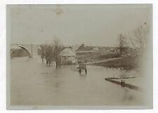 """PHOTO ANCIENNE PARIS Inondations 1910 Ile de France Eau """"Terrain à vendre"""""""