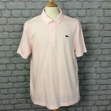 LACOSTE SPORT MENS UK XXL SIZE 7 PINK POLO SHIRT CASUAL DESIGNER TSHIRT HOLIDAY