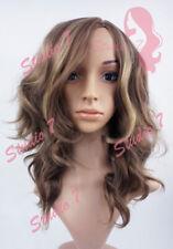 W132 Ladies Wig Chocolate Blonde HIghlight Beach Waves studio7-uk