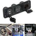 12v Car Boat Cigarette Lighter Socket 2 Usb Port Adapter Charger Voltmeter Panel