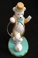Polar Bear Circus Ringmaster Pierre Figurine 1993 w White Poodle Avon Porcelain
