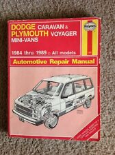 Haynes # 1231 Service Repair Manual Dodge Caravan Plymouth Voyager 1984-1989