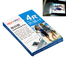 110x160mm A6 Laminating Pouch Film Glossy Protect Photo Paper 1 Pack(100 Sheets)