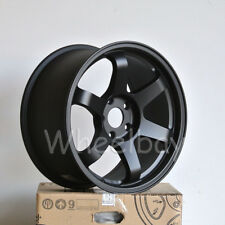 4 PCS ROTA WHEEL GRID 17X9  5X114.3 25  73 FLATBLK