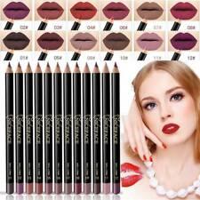 12 Colors Waterproof Pencil Lipstick Pen Matte Lip Liner Makeup Long Lasting