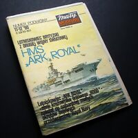 HMS Ark Royal Aircraft Carrier Maly Modelarz Poland Cut-Out Model Kit 1990