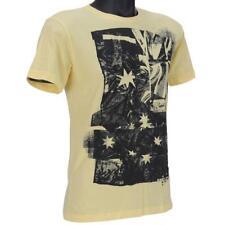 Oakley FLAG T-Shirt Size XL Yellow Australia Mens Slim Fit Cotton Tee