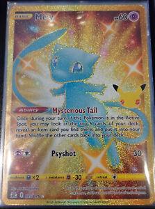 Pokemon Celebrations Secret Rare Shiny Mew (Shiny/Gold/Holo)