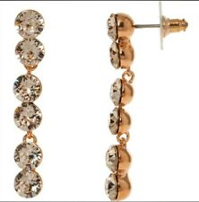 Drop Earrings occasion, gift, wedding gift Lola And Grace Rose Gold Tone Crystal