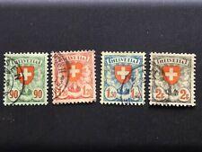 Suisse / Schweiz YT: 208 209 210 211 1924-27