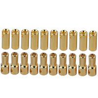 40x (20Paar) 5,5mm Goldstecker 150A Goldkontakt Stecker Buchse Lipo Akku