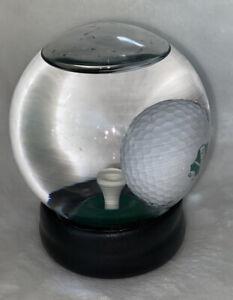 Golf Ball Snow Globe Man Cave Mind Game Challenge Tee Gift