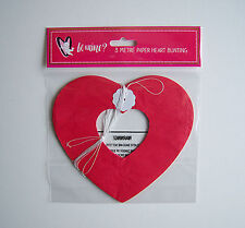 VALENTINES DAY BUNTING HEART 3 METRE LOVE