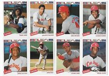 Complete Set of 33 1994 Cuba Basebal Cards Centrales