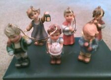 "Lot 6 - 2001 Goebel Hummel Children ""Christmas Ornaments"" 3"" Tall Mint! #1"
