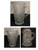 VINTAGE Anchor Hocking WEXFORD Clear Glass Pitcher 64 oz.