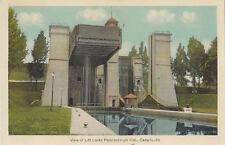 View of the Lift Locks PETERBOROUGH Ontario Canada 1930-40s PECO Postcard 20