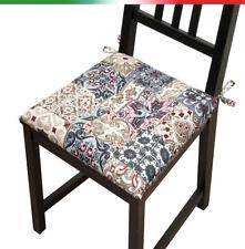 Cuscino copri sedia UNIVERSALE moderno cotone morbido laccetti cucina giardino