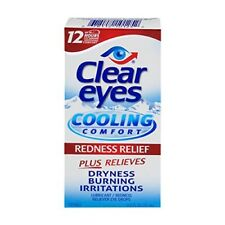 Clear Eyes Cooling Comfort Redness Relief, Lubricant Eye Drops, 0.5 oz