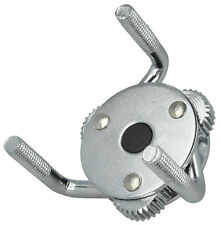 """Oil Filter Wrench 2.5"""" - 4.75"""" 3 leg With Drive Adaptor 3/8 and 1/2 inch drive"""