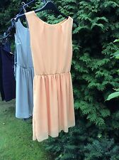 LOVELY Ladies Tangerine Colour Fully Lined  Dress By Love At Top shop Size M/L