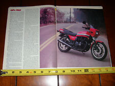 1982 KAWASAKI GPZ 750 - ORIGINAL ARTICLE GPZ750