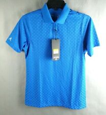 NWT NEW Antiqua Woman's Golf Shirt Blue Short Sleeve Desert Dry Size S