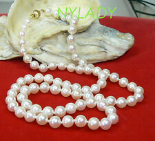AAA REAL AKOYA SALTWATER WHITE PEARL NECKLACE 14K GOLD