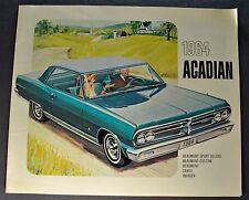 1964 Acadian Brochure Beaumont Canso Invader Pontiac Chevrolet Original Canadian