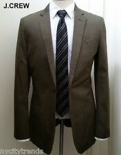 J.CREW Ludlow cotton blazer olive military green suit jacket sport coat 40R 40 R