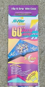 "Hi-Flier Kites 60"" Delta Kite 1995 Sailor Moon Flip & Grip Kite Case NEW Sealed"