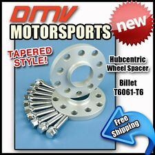 10MM Hubcentric Wheel Spacers Silver Tapered Bolts BMW 5x120 72.5 14x1.25
