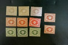 1867 Germany Donau Dampfschiffahrt Gesellschaft Set Of 11 Mint Hinged stamps