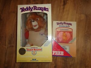 Teddy Ruxpin Animated Talking Bear w/Sealed Cassette Tapes Vintage