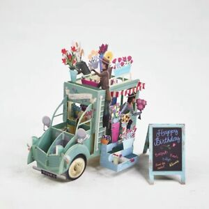 3D Pop Up Card Birthday/Occasion/Flowers - Flower Shop