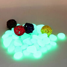 Aquarium Fish Tank Glow In The Dark Shiny Stones Pebbles Rocks Sell Y3K6