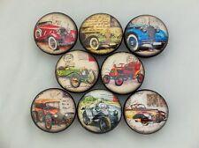 Set of 8 Antique Cars Cabinet Knobs Drawer Knobs Kids Boys Room