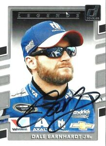 DALE EARNHARDT JR  -  Autographed [c2]  2018 Donruss  Card #153