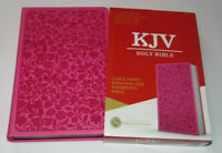 KJV Holy Bible, Large Print, Pink Leather-Touch Cover, King James Version