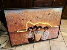 The Beatles Band Matadors Framed Yellow Neon Sign for Game Room, Home, Living