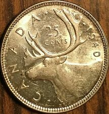 1940 CANADA SILVER 25 CENTS COIN