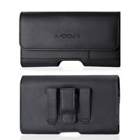 Reiko Leather Belt Clip Case Pouch for Phones COMPATIBLE WITH Otterbox Defender
