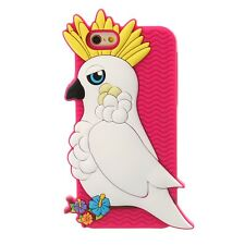 Claire'S 3D Silicone Bright SOUND Pink & White Cockatoo Phone Case IPN