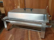 """Full Size Buffet Catering Chafer Dish Set, Lid, 4"""" Full Pan, 2 1/2"""" Pan, Stand"""